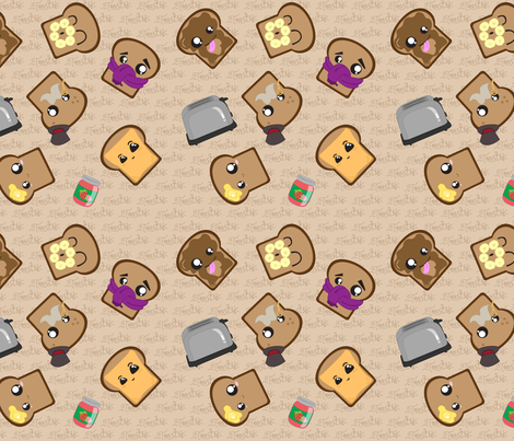 Toast Warm fabric by kikofleece on Spoonflower - custom fabric