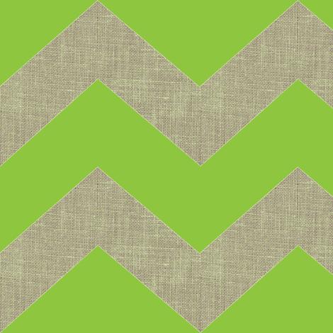 chevron burlap / lime fabric by paragonstudios on Spoonflower - custom fabric