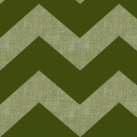 chevron burlap / olive fabric by paragonstudios on Spoonflower - custom fabric