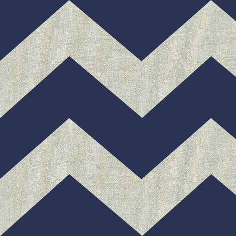 chevron burlap / navy fabric by paragonstudios on Spoonflower - custom fabric