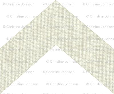 chevron burlap / white