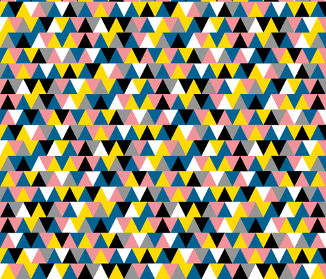 Bubblegum Triangles || geometric chevron arrows fabric by pennycandy on Spoonflower - custom fabric
