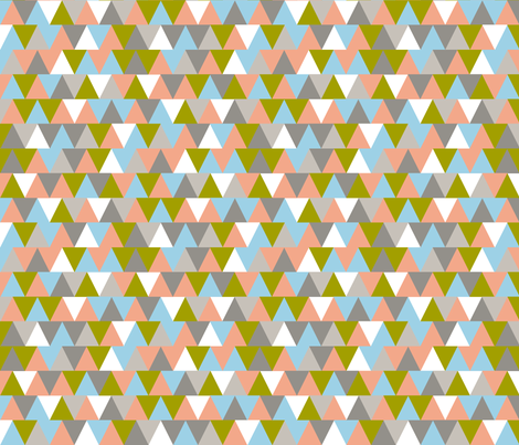 TV Triangles || geometric chevron arrows fabric by pennycandy on Spoonflower - custom fabric