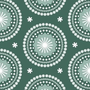 Bandana* (Statue of Liberty) || scarf handkerchief stars starburst circles flowers fireworks geometric mandala