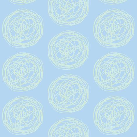 tumbleweed (sky blue + sea glass) fabric by pattyryboltdesigns on Spoonflower - custom fabric