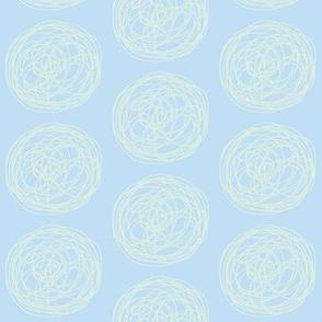 tumbleweed (sky blue + sea glass)