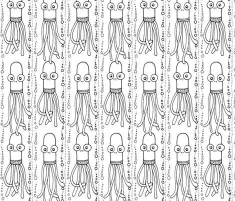 squid stripe w/b fabric by susan_swedien on Spoonflower - custom fabric