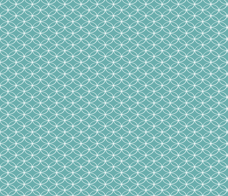 Geeky Ovals Blue fabric by natitys on Spoonflower - custom fabric