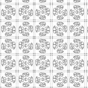 elephant quilt w/b
