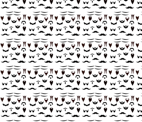 karisplace_com's facial hair bonanza!! fabric by kari's_place on Spoonflower - custom fabric
