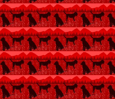 Red Bloodhound fabric by ninjaauntsdesigns on Spoonflower - custom fabric