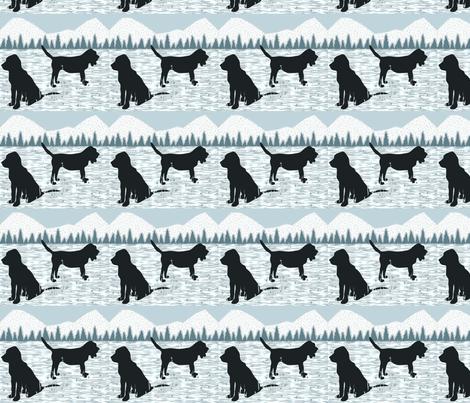 White Bloodhounds fabric by ninjaauntsdesigns on Spoonflower - custom fabric