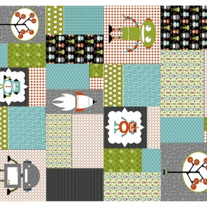 Robots Cheater Quilt Multi