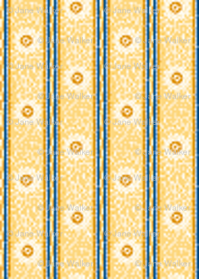 Miniature Gold, Blue, and Sun Stripe ©2012 by Jane Walker