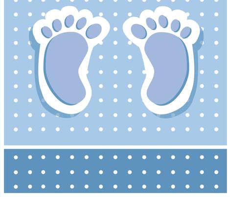 Baby Boy Feet fabric by twosister42 on Spoonflower - custom fabric