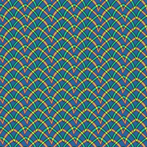 double_arch_201 fabric by glimmericks on Spoonflower - custom fabric