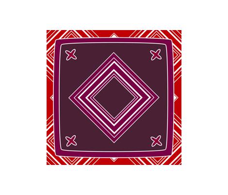 hanky_5_purple_fleur_ fabric by jennyf on Spoonflower - custom fabric