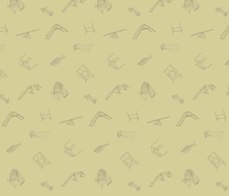 Dog Agility Equipment - khaki fabric by rusticcorgi on Spoonflower - custom fabric