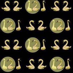 Full Moon Swans