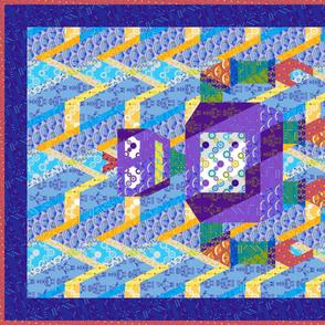 "daniel's robot cheater quilt - for 56"" wide sateen"