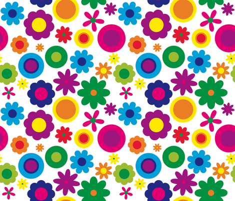 funky floral  fabric by jlwillustration on Spoonflower - custom fabric