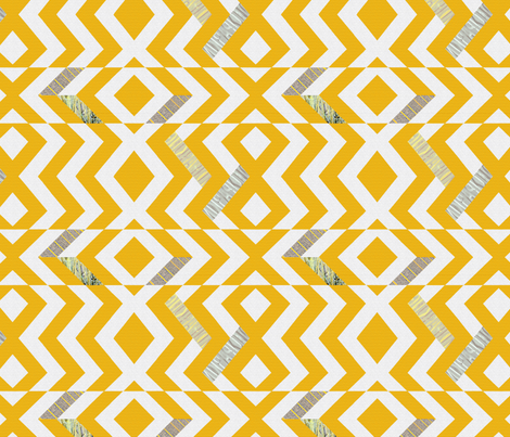 Golden Chevrons 500 fabric by wren_leyland on Spoonflower - custom fabric