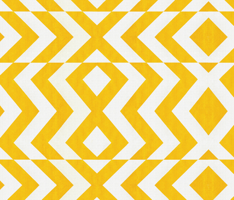 Golden Chevrons Zig1500 fabric by wren_leyland on Spoonflower - custom fabric