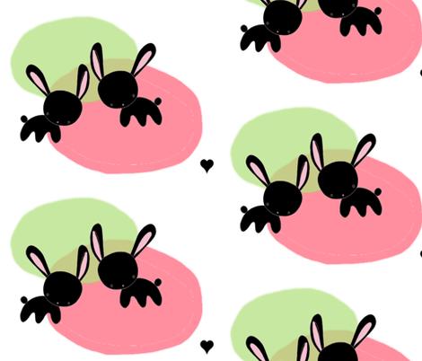 bunny_love fabric by blossomnbird on Spoonflower - custom fabric