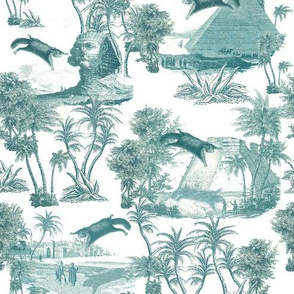 Giant flying squirrel attack toile-TURQUOISE