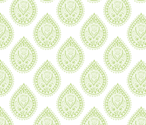 Mumbai in pear fabric by domesticate on Spoonflower - custom fabric