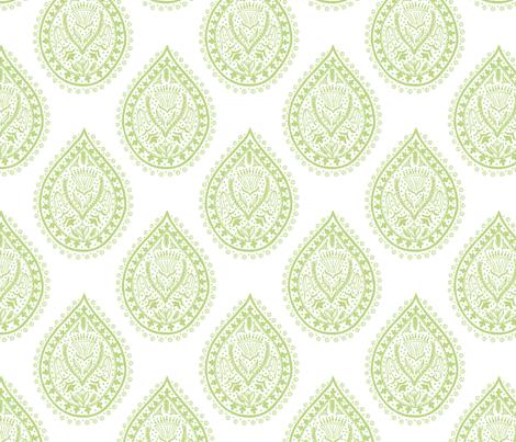 Mumbai in pear fabric by domesticate on Spoonflower - custom fabric