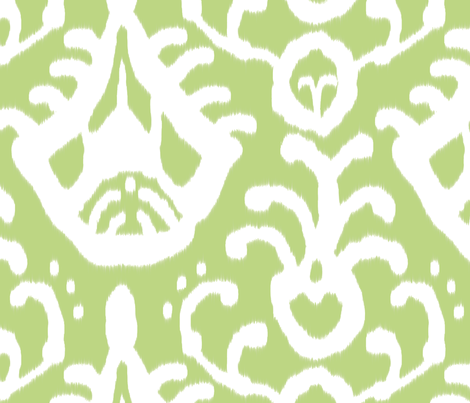 Pear Ikat fabric by domesticate on Spoonflower - custom fabric