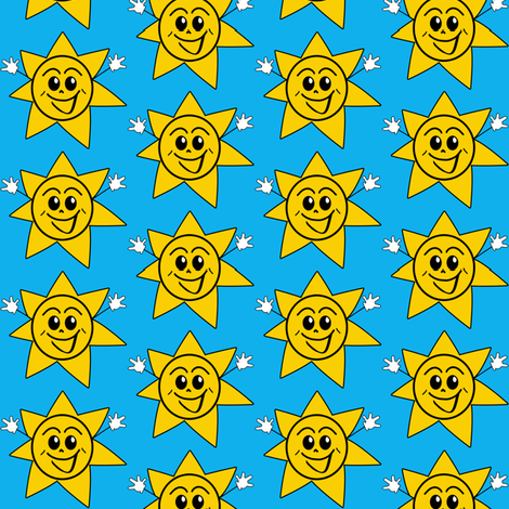 Happy Sun fabric by jjk466 on Spoonflower - custom fabric