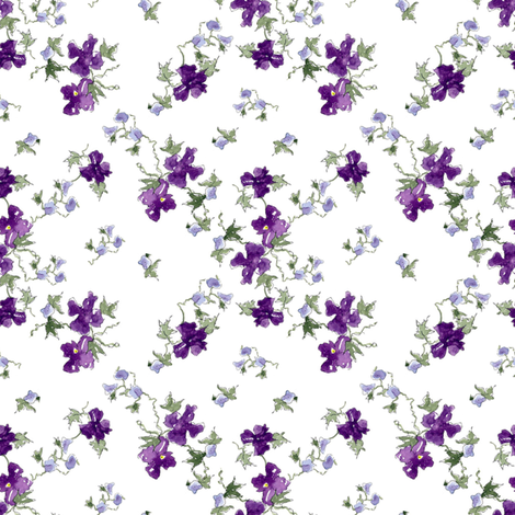 Royal Purple Flowers fabric by countrygarden on Spoonflower - custom fabric