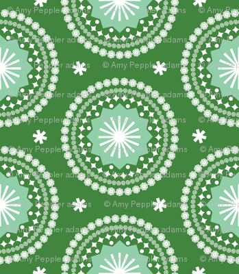 Bandana* (Dollar Bill) || scarf handkerchief stars starburst circles flowers fireworks geometric mandala