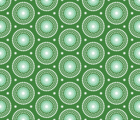 Bandana* (Dollar Bill) || scarf handkerchief stars starburst circles flowers fireworks geometric mandala fabric by pennycandy on Spoonflower - custom fabric