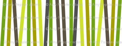 Washi Tape Strips (Green) || stripes sticks lines matches stripe bamboo stems grass