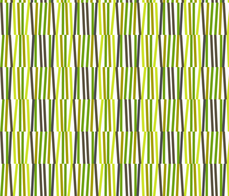 Washi Tape Strips (Green) || stripes sticks lines matches stripe bamboo stems grass fabric by pennycandy on Spoonflower - custom fabric