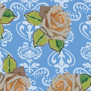 milky_rose_damask_blue_and_white