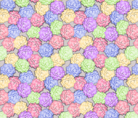 Mixed_Carnations fabric by glimmericks on Spoonflower - custom fabric