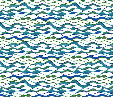 Waves Alone fabric by cricketswool on Spoonflower - custom fabric