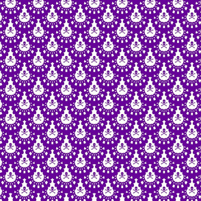 purple and white skull and crossbones lace