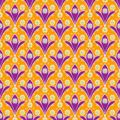 Kite Garden Purple Lily fabric by siya on Spoonflower - custom fabric