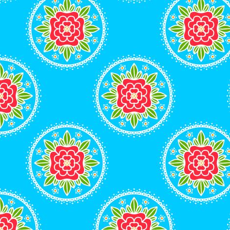 Kite Garden Rose fabric by siya on Spoonflower - custom fabric