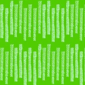 Lime green summer stripe