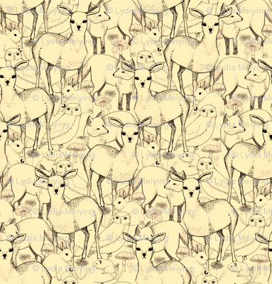 Woodland (Cream Background)