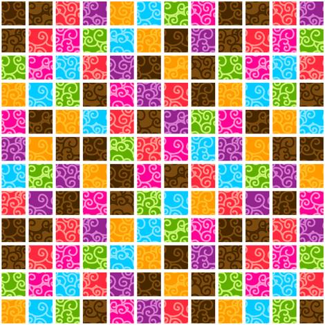 Kite Garden Squares fabric by siya on Spoonflower - custom fabric