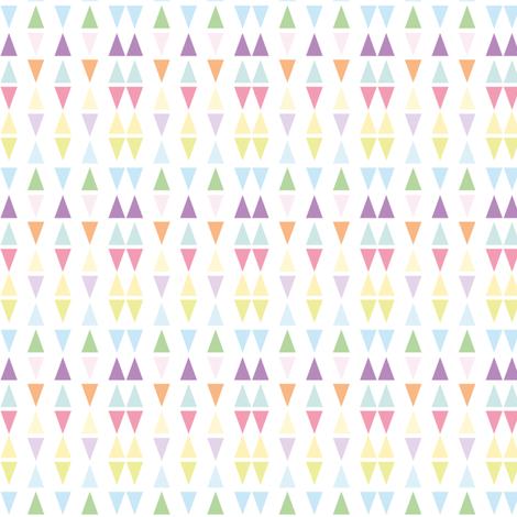 It's raining triangles - Rainbow combo fabric by seabluestudio on Spoonflower - custom fabric