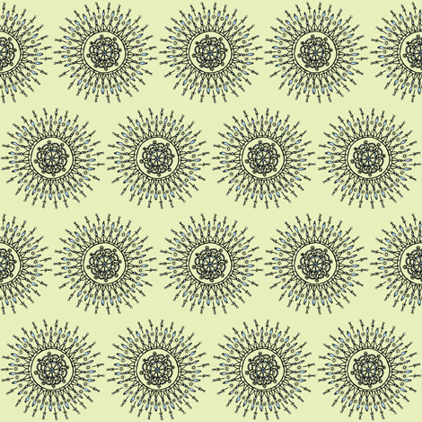 star brust pale green and blue fabric by susan_swedien on Spoonflower - custom fabric