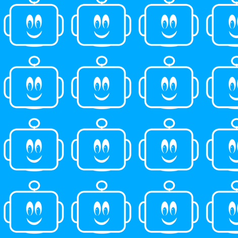 Large Mr Mikeys Smile Lt Blue V2.1 fabric by shelleymade on Spoonflower - custom fabric